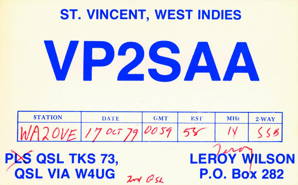 It's All in the Cards: QSLs from St  Vincent and the Grendanines QRV