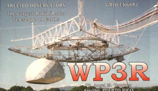 It's All in the Cards! QSLs from the Arecibo Observatory, Puerto Rico